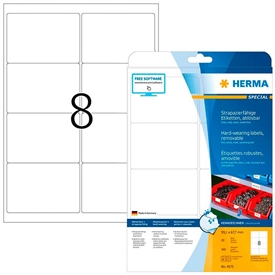 Herma A4 Polyester Etiket 4575